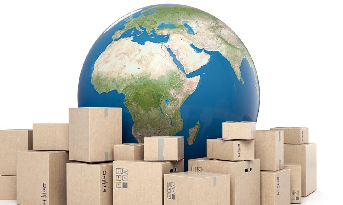 balíky a země