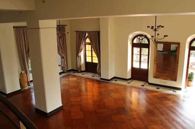 voskovaná podlaha