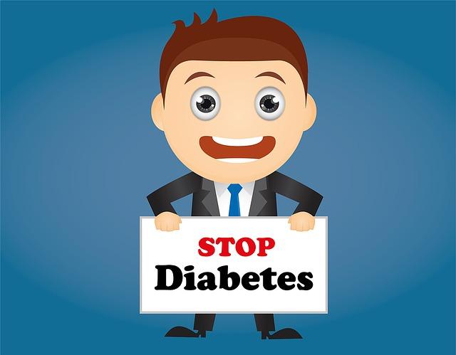 muž s nápisem stop diabetes